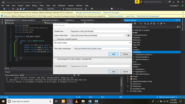 How To Make Web API And How To Get Data Through Xamarin.forms