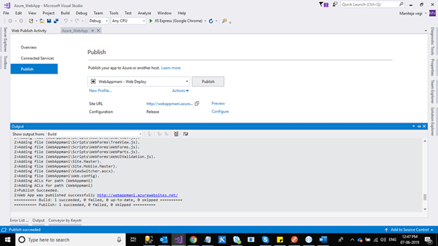 How To Publish ASP.NET Web Application In Azure Portal By Using App Services