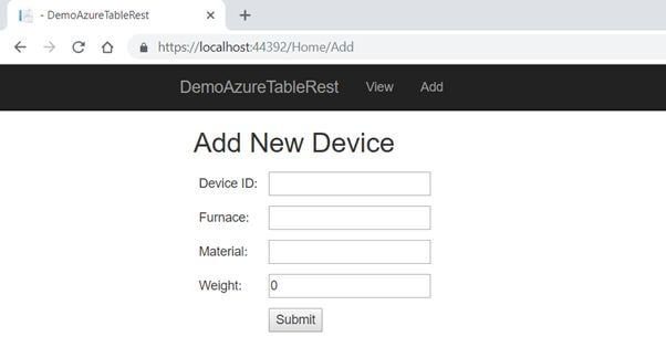 How To Store Data In Azure Table Storage Using Rest API in ASP.NET Core