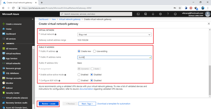 Implementing Azure Site To Site VPN