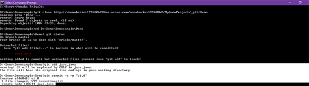 Add An Existing Project Into GIT With Azure Devops