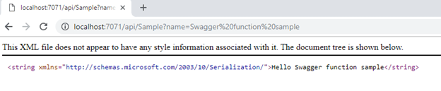 Importing Azure Function Swagger JSON In Azure API Management
