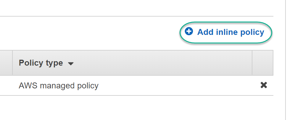 Select Add Inline Policy