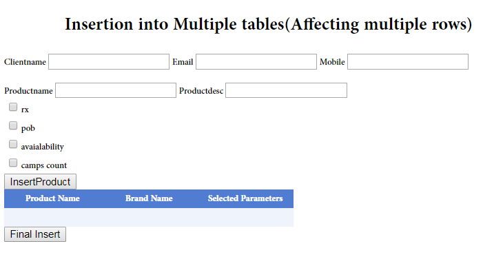 Inserting Data Into Multiple Tables In Mssql At Once In