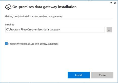 Install And Configure Azure On-Premise Data Gateway