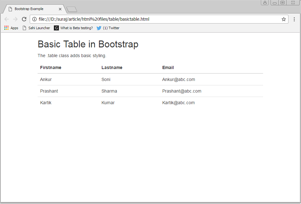 Introduction To Bootstrap Tables