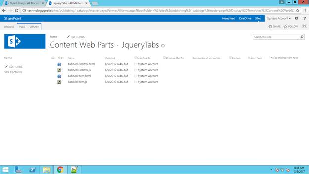 jQuery Tabs Using Content Search Web Part In SharePoint Server 2013