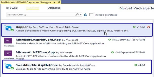 Learn ASP.NET Core MVC With MSSQL Using Dapper ORM (RESTful) And Swagger UI