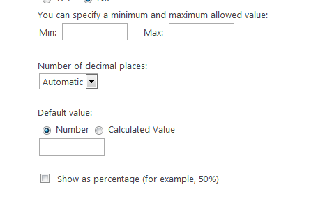 just select number while creating columns there are several properties available in number column types for reference see below image
