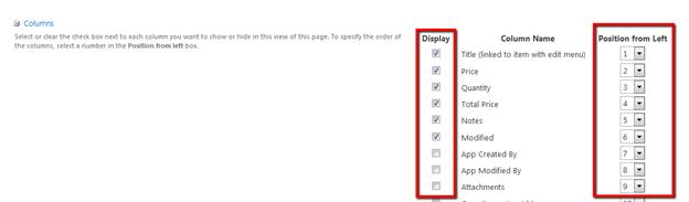 Creating a SharePoint List View