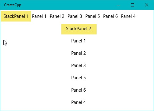 Stackpanel Is Added Inside Another