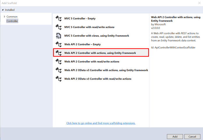 Web API 2 with Entity Framework 6 Code First Migrations