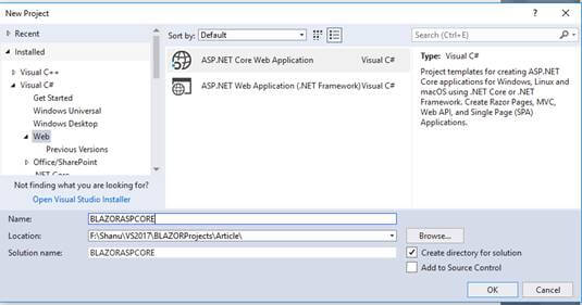 make Shopping Cart using ASP.NET Core Blazor using EF and Web API