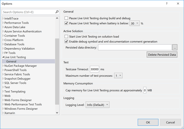 Live Unit Testing With Visual Studio 2017