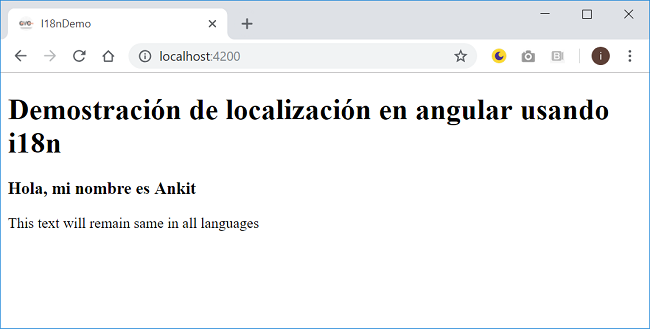 Localization In Angular With i18n