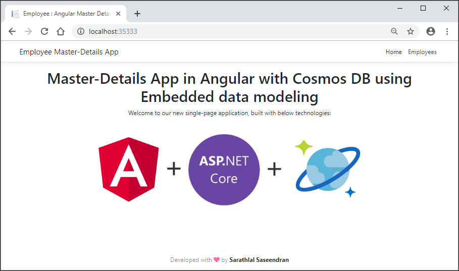 Master-Details App In Angular With Cosmos DB Using Embedded Data Modeling