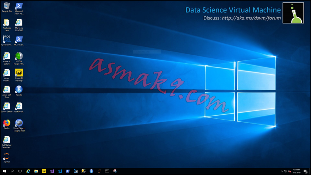 Microsoft Azure - Remote Desktop Connection to Data Science Windows 2016 Virtual Machine