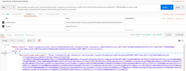 Microsoft Graph API - Access Documents from SharePoint Document Library using Azure AD Application Credentials and Postman