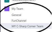 O365 - Teams - Added Two Channels