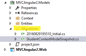 Add-Migration Initial