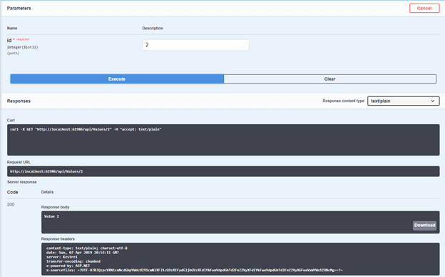 .NET Core Rest API with Swagger
