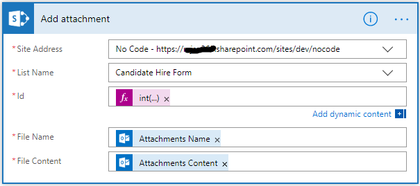 How To Attach Email Attachments To Existing List Item