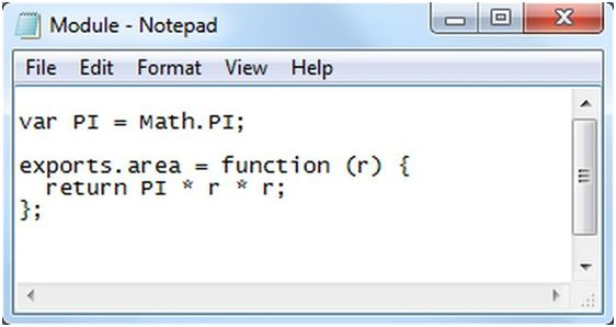 code in Notepad