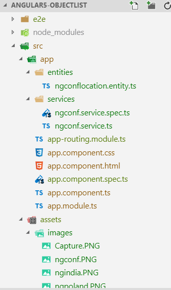 Object List with Services Using Angular