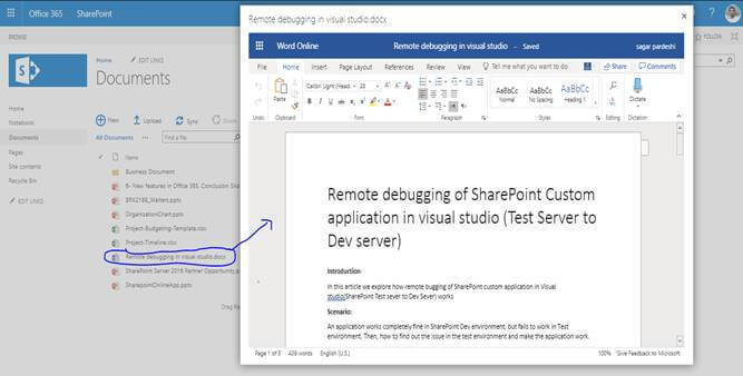 SharePoint 2013 Document library Office Web Apps (Word, Excel