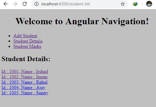 Child Routes In Angular
