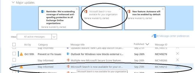 Office 365 - Microsoft Search feature is now available