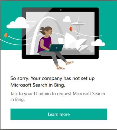 "Microsoft Search in Bing - Login failure in case ""Microsoft Search"" setting is turned off"