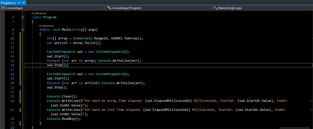 Performance Of The Loops In C#