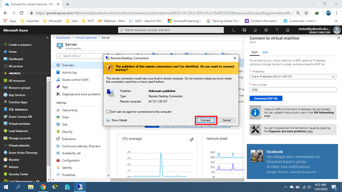 Remote Desktop Connection Error In Microsoft Azure