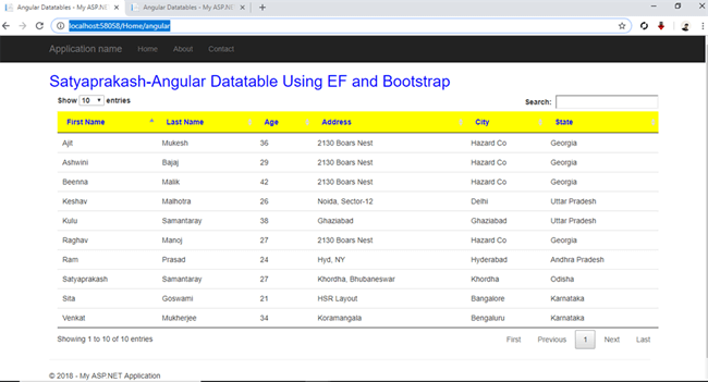 Fetch Records In Angular Datatable Using Entity Framework And Bootstrap