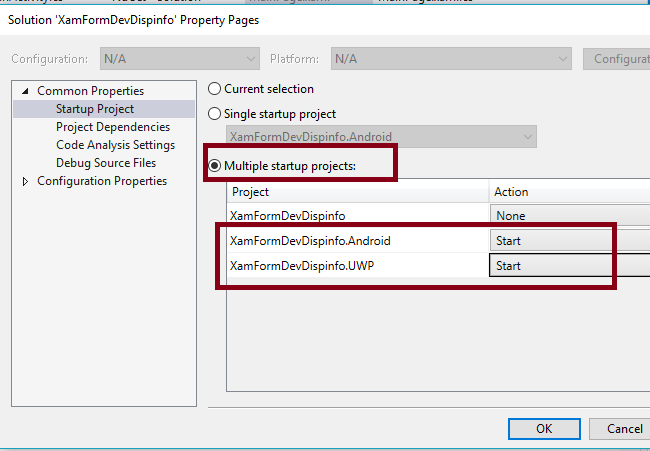 Retrieving Device Display Information in Xamarin Forms application using Xamarin Essentials for Android and UWP