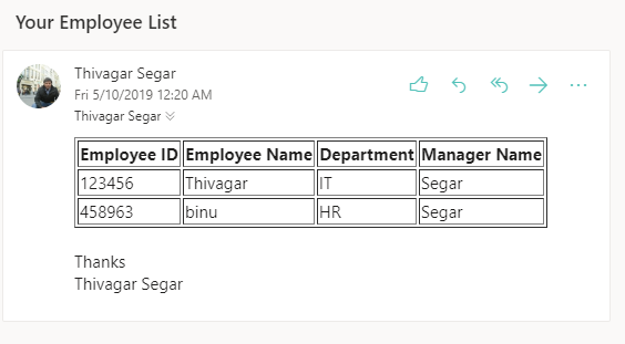 Send consolidated list item to the recipient using PnP PowerShell