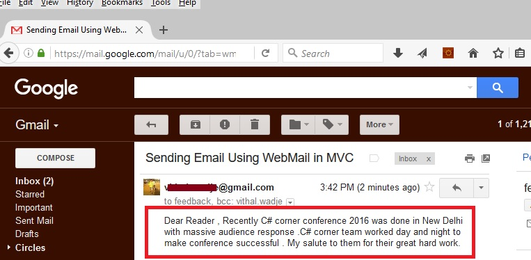 Sending Emails In Aspnet Mvc From Razor View Using Webmail Helper