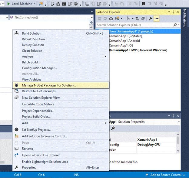Manage NuGet Package for Solution