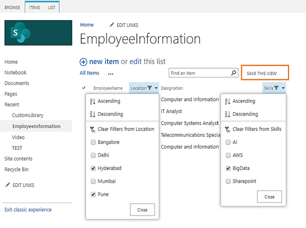 SharePoint 2013 - Creating Views On The Fly