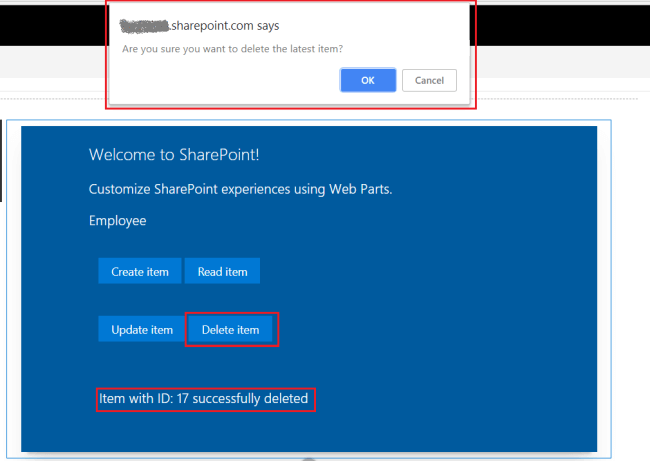 SharePoint Framework - CRUD operations using Knockout JS