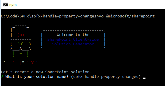 SharePoint Framework - Handle Web Part Property Changes