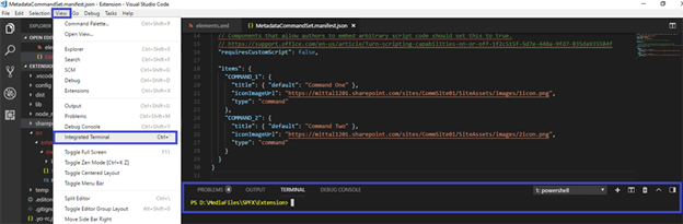 SharePoint Framework (SPFX) Extension - Restrict List View Command Set To Specific List Or Library