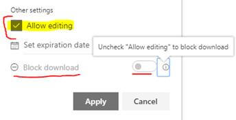 SharePoint Online And OneDrive, Block Download For View Only Links