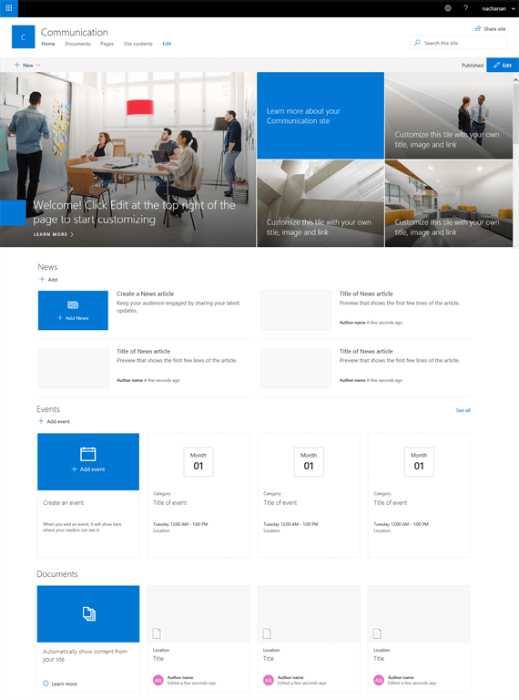 SharePoint Server 2019 User Experience