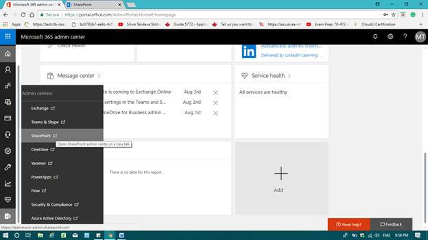 Step by Step SharePoint site creation using office 365 with customized home page