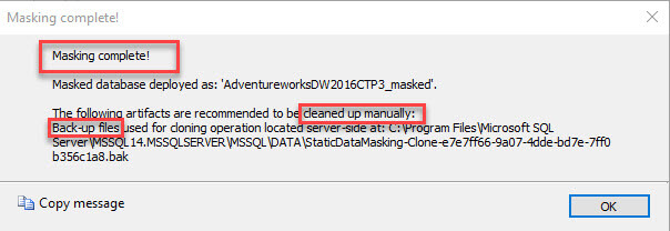 Static Data Masking (SSMS 18.0 Preview)