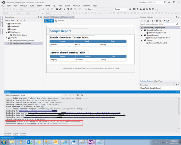 Deploy Bulk SSRS Reports In SharePoint From BIDS Or SSDT