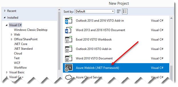 Azure WebJob For SharePoint Online