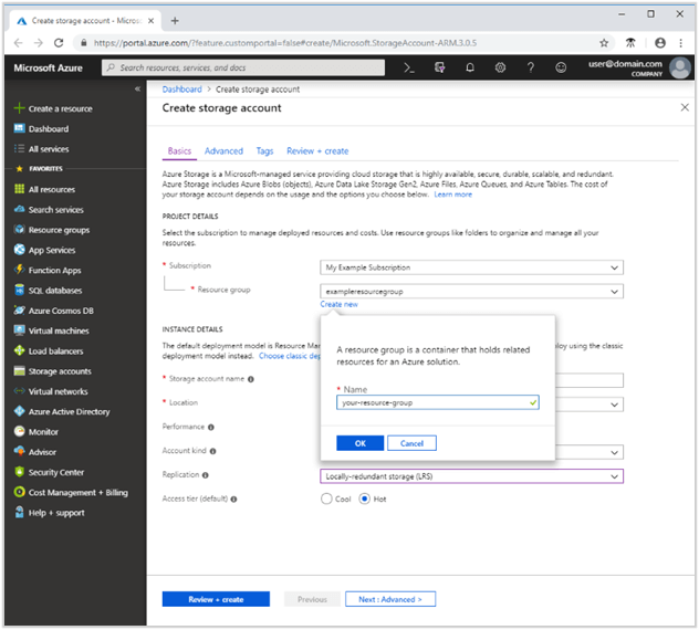 Storage Account In Windows Azure